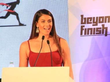 Stephanie Rice during an event in Bengaluru last week