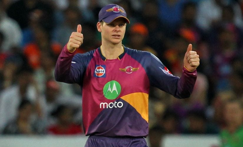Steve Smith captain of Rising Pune Supergiant during a match in the Indian Premier League. Sportzpics