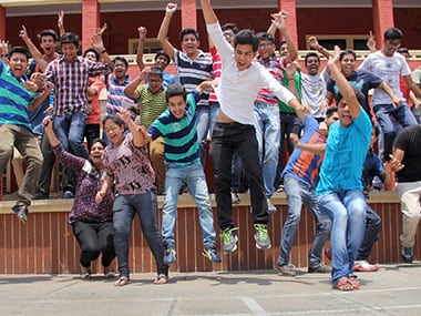 Students-celebrate-their-success-after-announcement-of-ISC-and-ICSE-Board's-10th-and-12th-class-results-in-meerut_pti_01