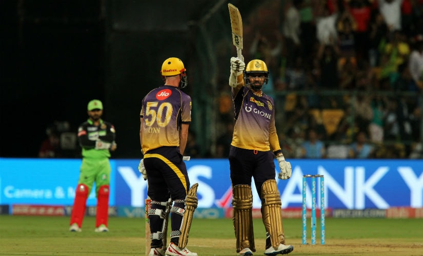 Sunil Narine smashed a brilliant half-century to guide KKR into the playoffs. Sportzpics