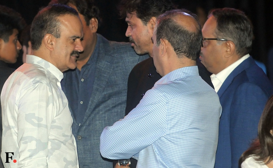Thane's Commissioner of Police Parambeer Singh is seen mingling with other dignitaries at Praful Patel's book launch. Photo: Sachin Gokhale/Firstpost