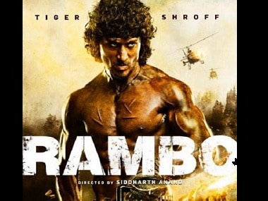 Tiger Shroff in Rambo's Indian remake. Image Courtesy: Facebook