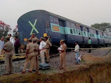 File image of the Mahakaushal Express that derailed on 31 March 2017. PTI