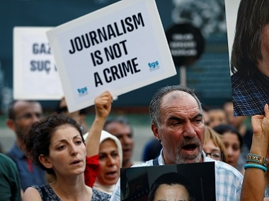 File image of a protest against crackdown on press freedom in Istanbul. Reuters