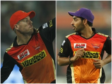 David Warner and Bhuvneshwar Kumar, both part of the Sunrisers Hyderabad camp, currently hold the Orange Cap and Purple Cap respectively. Sportzpics