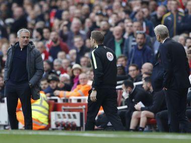 Manchester United manager Jose Mourinho and Arsenal manager Arsene Wenger. Reuters