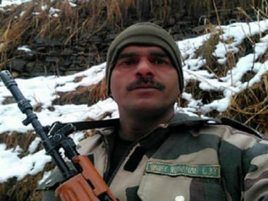 File image of BSF jawan Tej Bahadur Yadav who complained of substandard food being served in the force. Screenshot from YouTube video