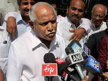 File image of BS Yeddyurappa. PTI