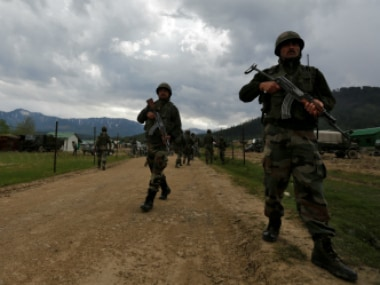 File image of Indian Army soldiers in Jammu and Kashmir. Reuters