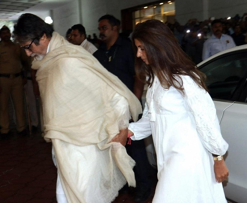 Amitabh Bachchan and Shweta Bachchan-Nanda. Image from PTI