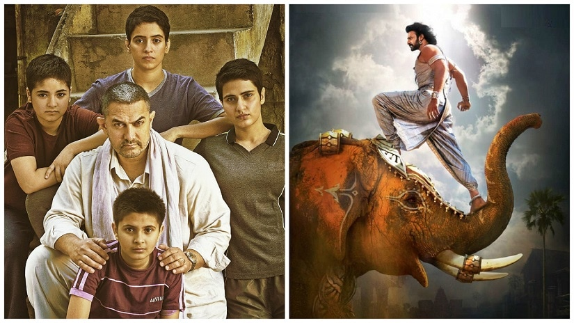 Dangal needs just a few crores more to close the gap between itself and Baahubali 2: The Conclusion/Bahubali 2's box office collections