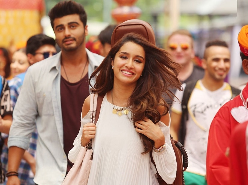 Arjun Kapoor and Shraddha Kapoor in a still from 'Half Girlfriend'