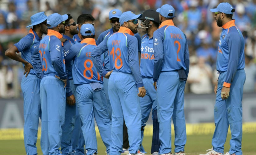 The Indian cricket team during the 1st ODI of the series against England at Pune in January, 2017. AFP