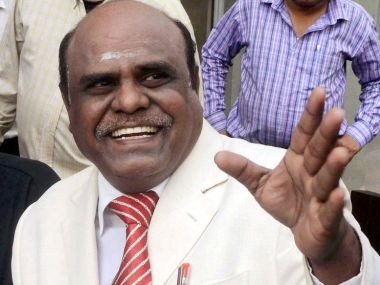 File image of Justice CS Karnan. PTI
