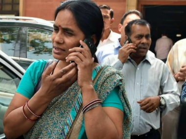 Jyoti Singh's mother after the Supreme Court verdict. PTI