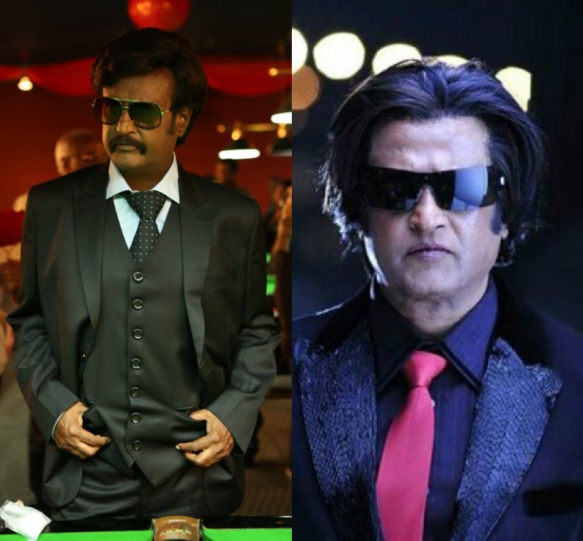 Still from Kabali and Enthiran. Images from Facebook and News 18