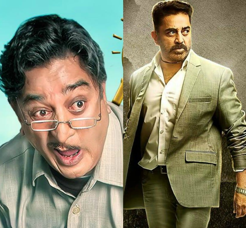 Kamal Haasan in stills from his films. Images from Facebook