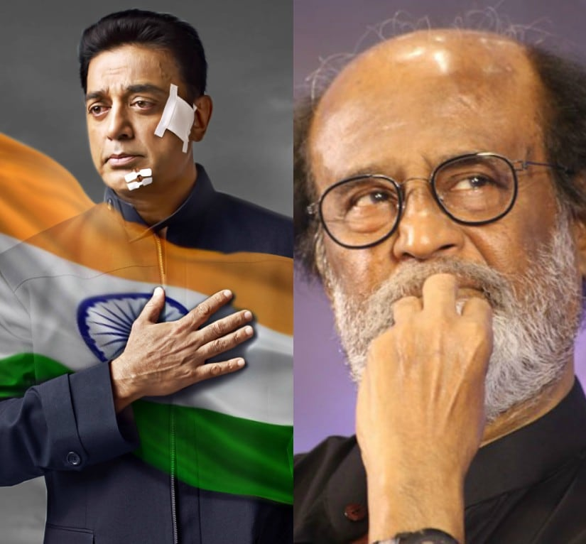 Kamal Haasan and Rajinikanth. Images from Facebook and News 18