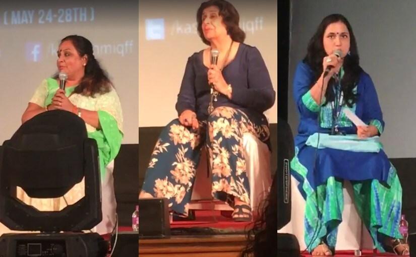 The parents' panel at Kashish. Facebook screengrab