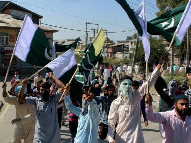 A file image of Kashmiri youth. PTI