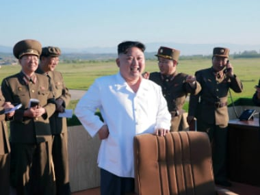 North Korean leader Kim Jong-Un watches the test of a new-type anti-aircraft guided weapon system organised (representational image). KCNA/ Reuters