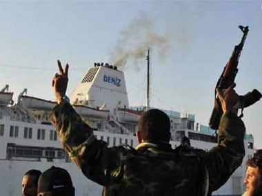File image of Libyan militants. Reuters