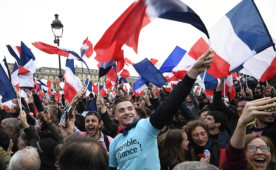 Almost definitive results showed Macron winning 65.82 percent of the vote in the first ever election he has contested, far ahead of the nationalist Le Pen at 34.18 percent. But in a sign of widespread voter disillusionment, one in three voters abstained or cast a blank ballot. AFP