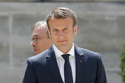 File image of President Macron. AP