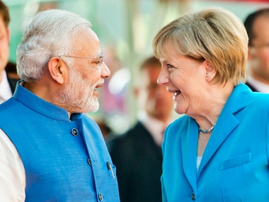 File image of Indian prime minister Narendra Modi and German Chancellor Angela Merkel. Getty Images