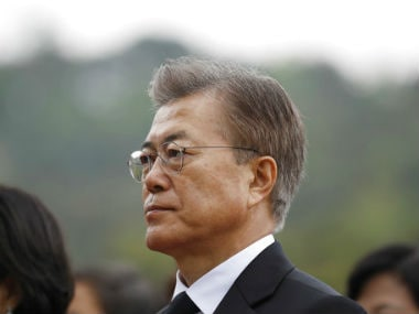 File image of South Korea president Moon Jae-in. AP