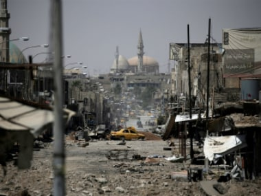 Scene after an earlier attack in Mosul, Iraq. Reuters