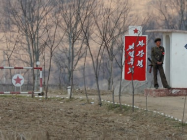 A North Korean soldier guards the gate on banks of the Yalu River, north of Sinuiju, North Korea near China border (Representative image). Reuters