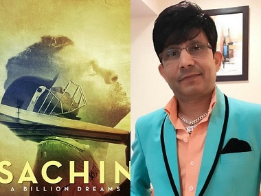 The poster of Sachin: A Billion Dreams and KRK. Images from Facebook