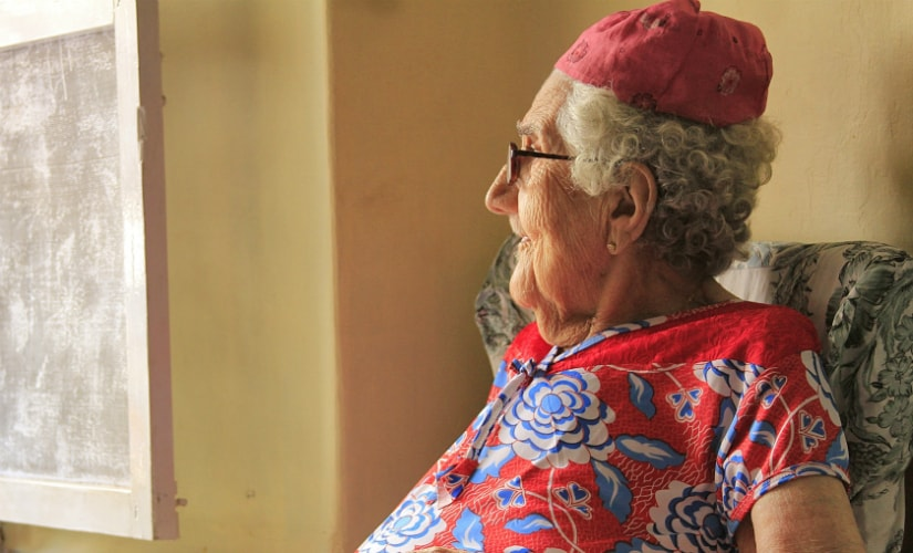 95-year-old Sarah Cohen is one of the oldest residents of Jew Town. Photo courtesy: Thomas Thottungal
