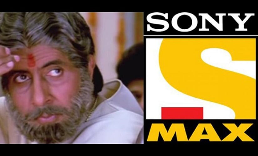 Amitabh Bachchan in Sooryavansham and Sony Max. Image from Faking News