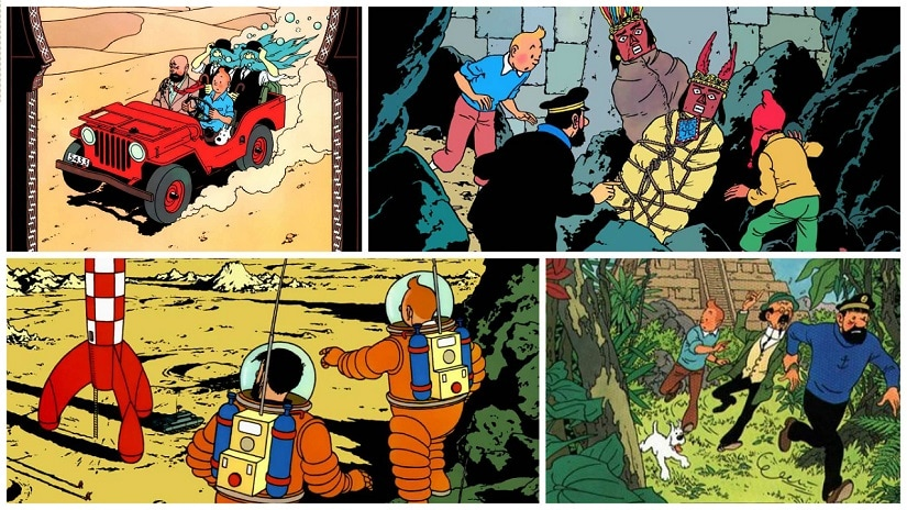 Covers of The Adventures of Tintin
