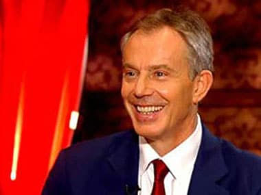 File photo of former British PM Tony Blair. News18
