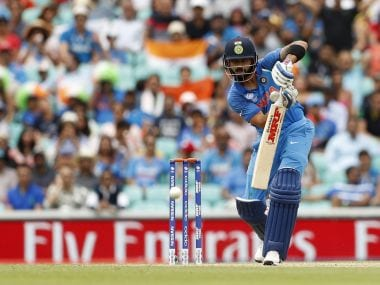 India's Virat Kohli in action against NEw Zealand in a warm-up match on Saturday. Reuters