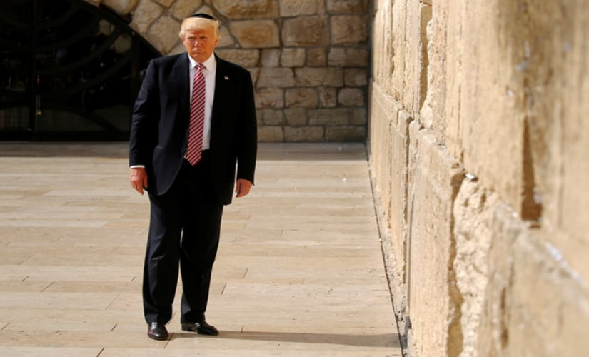 US President Trump at the iconic Western Wall on his Israel visit/ Reuters