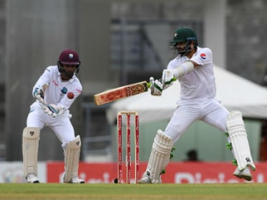 Pakistan's Azhar Ali bats during Day 1 of the third Test against West Indies. AFP