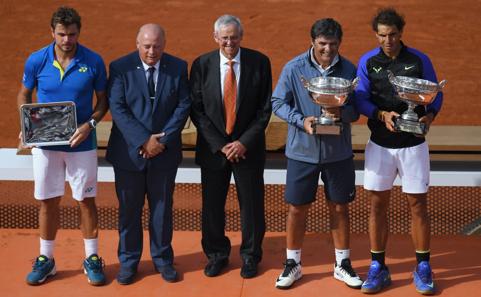Nadal was joined on the presentation by his uncle Toni, his coach since boyhood, who is stepping down at the end of the year. AFP