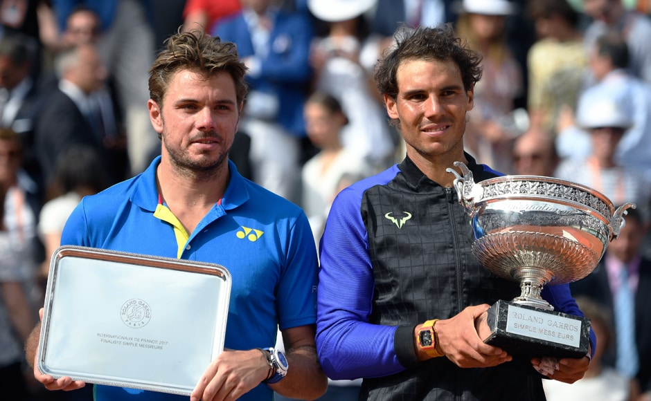 Sunday was also the first time since 1969 that the Roland Garros final had featured two men over 30. While Nadal is 31, Wawrinka is 32 years old. AFP