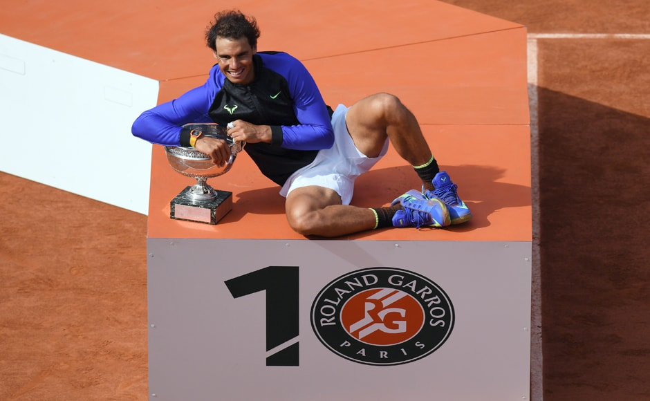 Nadal, on way, also earned his 15th Grand Slam crown. He is now just behind his rival Roger Federer in total titles. AFP