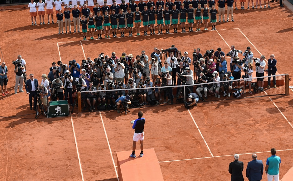 Playing in his 22nd Grand Slam final, Nadal triumphed in Paris without dropping a set for a third time. AFP