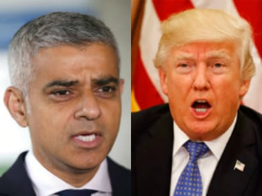 London mayor Sadiq Khan and US President Donald Trump.