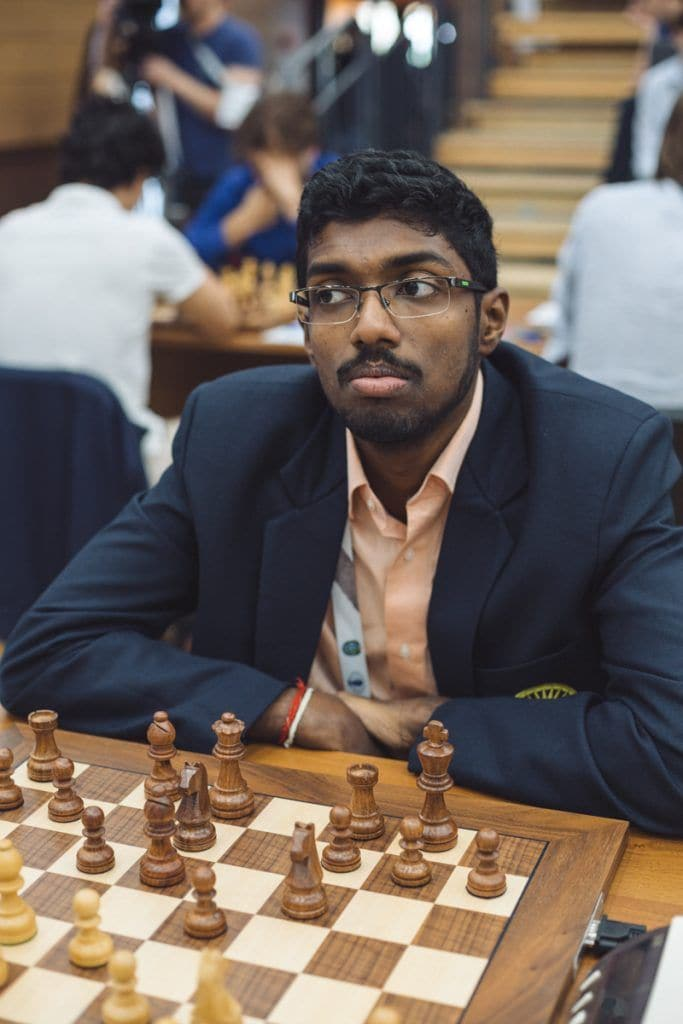You can never count Adhiban Baskaran out, even if he's lost the last two games! (Image courtesy: FIDE)