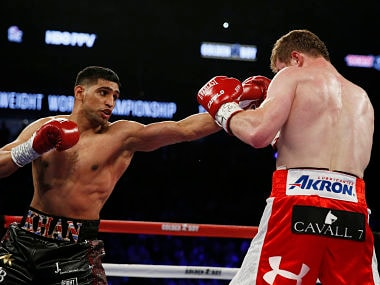 File image of Amir Khan in action . Reuters