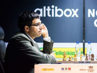 Viswanathan Anand playing at the Altibox Norway Chess tournament. Image courtesy: Lennart Ootes