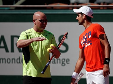Novak Djokovic and his present coach Andre Agassi. Reuters