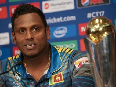 Sri Lanka captain Angelo Mathews . AFP
